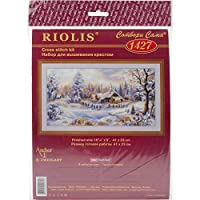 Riolis 14 Count Winter Evening Counted Cross Stitch Kit 16 by 9-Inch [並行輸入品]