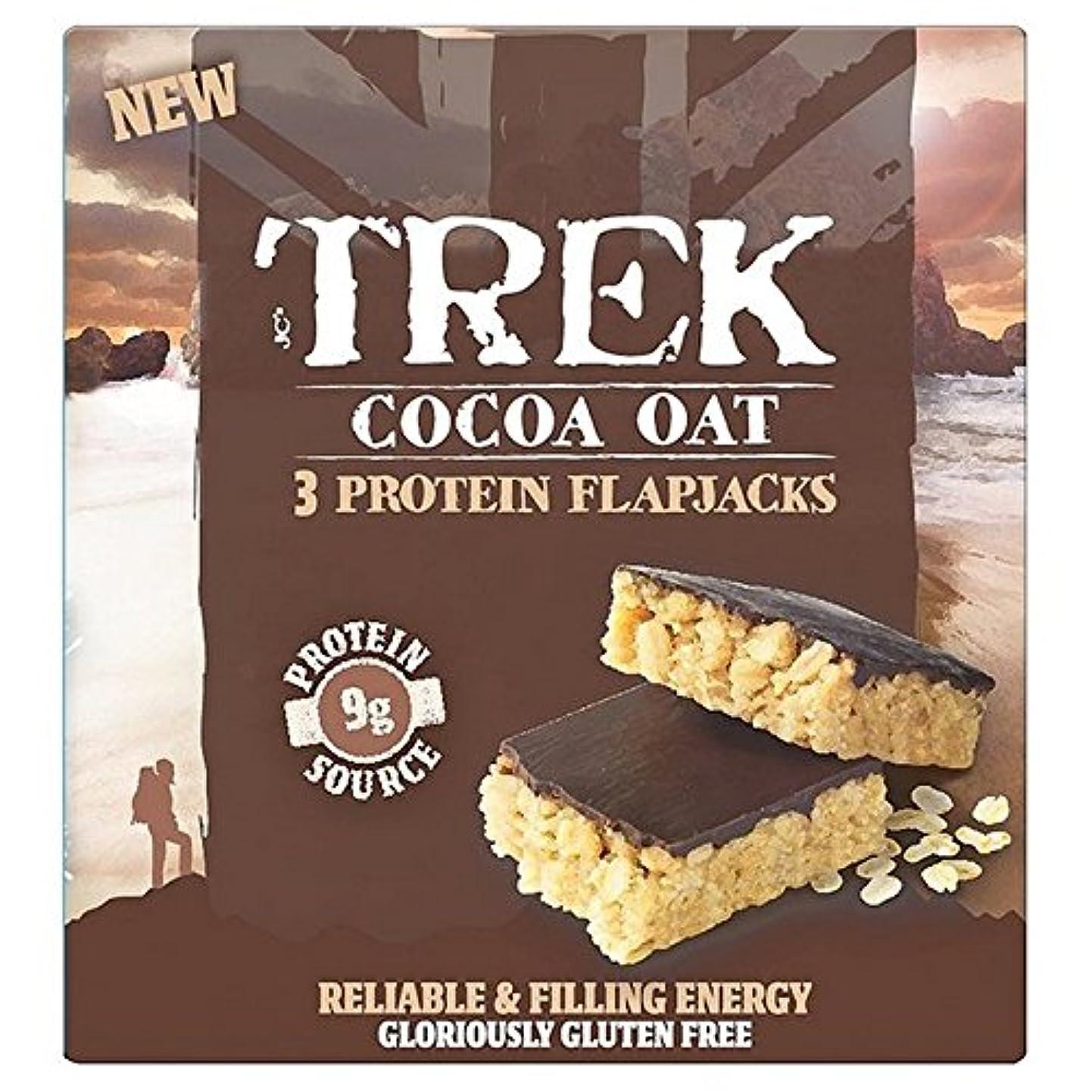 短くする蚊有限(Trek (トレッキング)) ココアオート麦タンパク質Flapjacks 3×50グラム (x2) - Trek Cocoa Oat Protein Flapjacks 3 x 50g (Pack of 2) [並行輸入品]