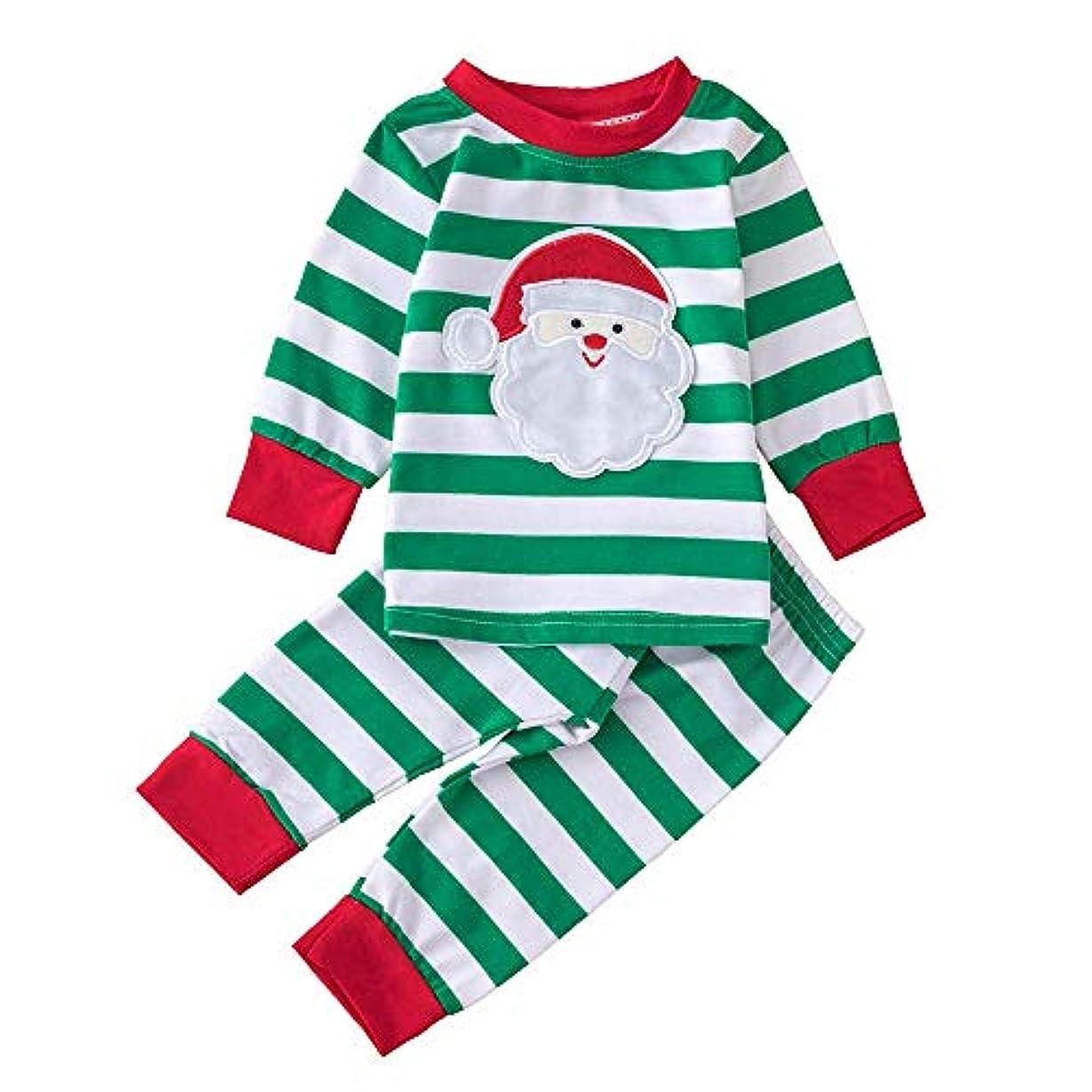 名前移動する必要条件BHKK 赤ちゃん幼児の少年少女のレタートップスTシャツ+パンツクリスマスコスチュームセット 6 ヶ月-3 歳 3歳