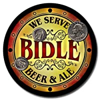 Bidle Family Name Beer & Ale ネオプレンコースター - 4点セット
