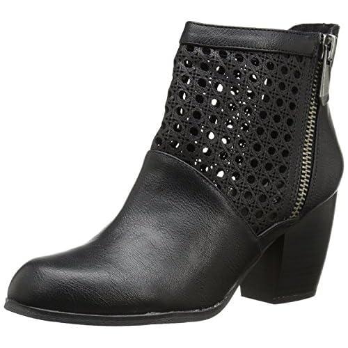 Qupid Women's Maze 83 Boot Black 6 M US [並行輸入品]