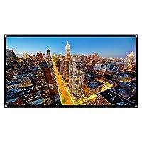 プロジェクタースクリーン 84インチ ポータブル16:9 壁掛け 投影 ホームシアター PPT プレゼンテーション 会議 教室 適用
