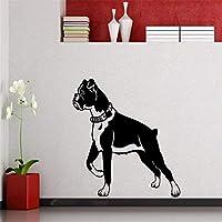 Lcymt 42×50センチランニングパターンかわいいペット犬アートウォールステッカーホームキッズ寝室愛する装飾ビニール特別壁壁画壁デカール