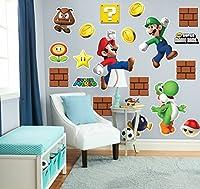 """Super Mario Bros. Mario, Luigi and Yoshi Giant Wall Decals Combo Kit """"スーパーマリオブラザーズマリオ、ルイージとヨッシー巨人壁飾りコンボキット""""は """"♪ハロウィン♪クリスマス♪"""