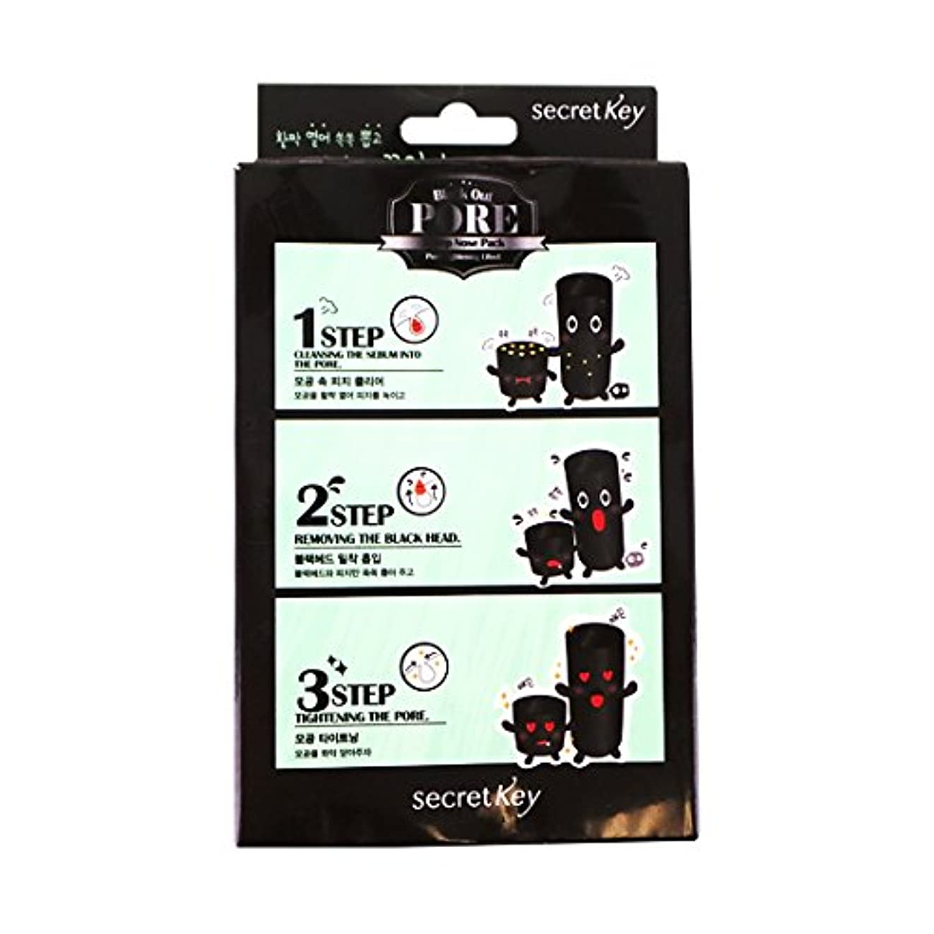 広々とした過激派甥SECRET KEY Black Out Pore 3-Step Nose Pack (Pack of 5) (並行輸入品)