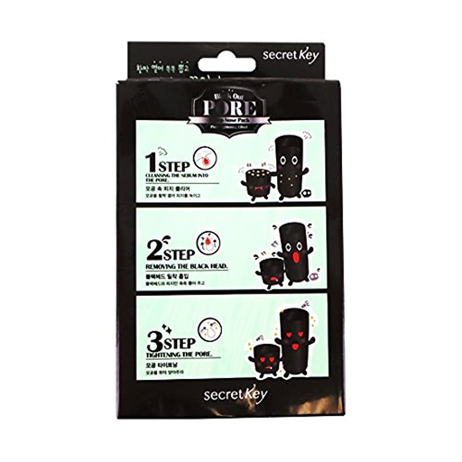 突き出す提供する強打SECRET KEY Black Out Pore 3-Step Nose Pack (Pack of 5) (並行輸入品)