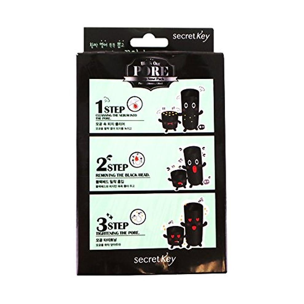 懲らしめ順番保守可能SECRET KEY Black Out Pore 3-Step Nose Pack (Pack of 5) (並行輸入品)