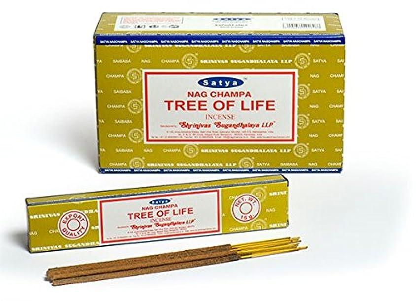 肯定的受けるふつうSatya Nag Champa 生命の樹 お香スティック Agarbatti 180グラムボックス | 12パック 15グラム/箱入り | 輸出品質