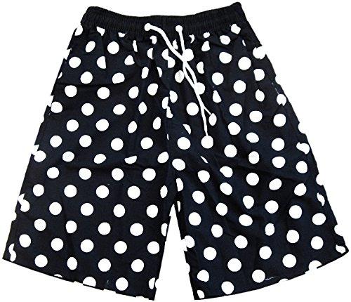 (ザッカリーズ) ZACCARY's ビーチ に映える メンズ サーフパンツ + スノーマーク 防水 水着 バッグ 計2点セット 海水パンツ 海 パン <水玉L>
