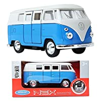 WELLY NEX MODELS 1:34 1963 Volkswagen T1 Bus Blue ダイキャストメタル玩具 [並行輸入品]