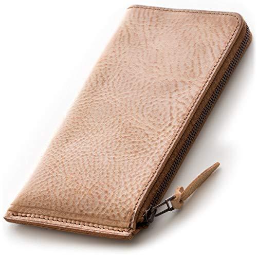 SYRINX 【厚い革の薄い財布】 本革 長財布 《単》 (長財布, Alaska Cammello 「アラスカ・らくだ」)