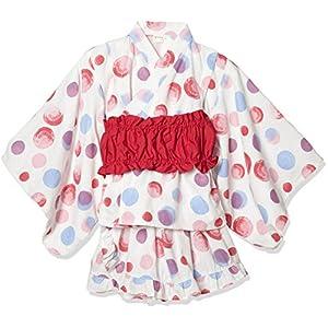 [タキヒヨー] 水玉柄浴衣風3点セット ガールズ 342447207 ピンク 日本 95 (日本サイズ95 相当)