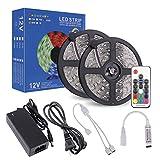 LEDテープ RGB SMD5050 10M 300連 防水IP65 正面発光 高輝度 カラー選択可能 ledテープライト 17キーリモコン操作 12V 5A 電源