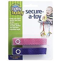 Baby Buddy ベビー バディ Secure-A-Toy 2ct おもちゃストラップ2色各1本組 【アメリカ製】 Pink&Purple ピンク&パープル
