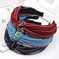 Fashion Lurrose 3pcs Hair Hoop Stylish Cloth Cross Knot Hairband Lady Hair Accessories for Daily Decoration
