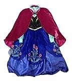 Disney Store Frozen Princess Annaデラックスコスチュームドレスwithベロアケープ 9/10