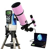 ピンク80mm GPSコンピュータ制御さRefractor Telescope with 5MPデジタルUSBカメラ