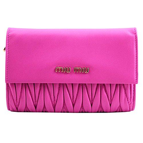 【アウトレット】 (ミュウミュウ)MIUMIU 三つ折り財布 5M1225 MATELASSE FUXIA ピンク [並行輸入品]