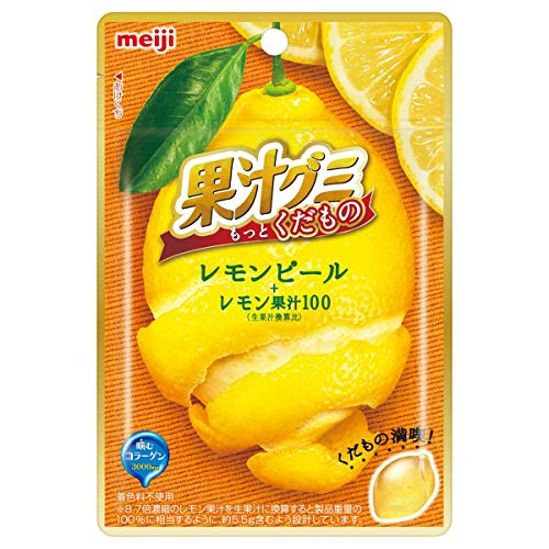 果汁グミ もっとくだもの レモンピール 10個