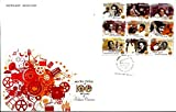 First Day Cover 03 May.'13 100 Years of Indian Cinema. They are Printed As Composite Sheetlet Form Only.(FDC-2013)