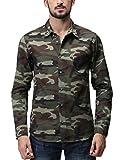 (マッチスティック)Matchstick メンズ ミリタリー 長袖 迷彩 ミリタリーシャツ #G2236(M,G2236 グリーン迷彩)