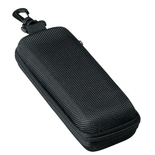 メガネケース ウレタン セミ ハードケース スクエア (ファスナー式 フック付き) ブラック 2281-01