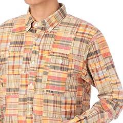 Patchwork Madras Buttondown Shirt 387-84021: Pink