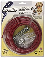 Dogit Tether Overhead Dog Trolley, 50-Feet, Red by Dogit