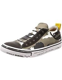 (ディーゼル) DIESEL ユニセックス スニーカー IMAGINEE S-IMAGINEE LOW SLIP-ON - sneakers Y01700P1640 39 (25.5cm) グリーン系カモフラージュ H5254