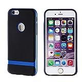 iPhone6s iPhone6 ケース カバー Cellto U-Lux TPU ソフトケース カード収納 ストラップホール付き / ブルー
