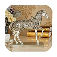 Homehing飾り馬の彫像置物リビングルームレトロ工芸ビジネスギフト装飾彫刻