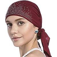 2e3da12c4741 バンダナ キャップ レディース ダイヤモンド 帽子 ぼうし サイクリング アウトドア インナー インナーキャップ アンダーキャップ 医療用帽子