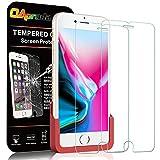 OAproda iPhone 8/7/6/6s ガラスフィルム 保護フィルム 強化液晶保護カバー 貼り易い 枠付き【2枚】