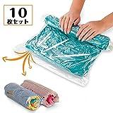 衣類圧縮袋 旅行用 U-miss 衣類圧縮パック 旅行用圧縮袋 防虫・防臭対策に 掃除機不要