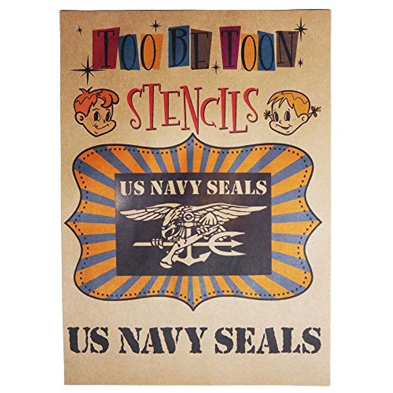 実行可能航空会社拒絶アメリカ軍エンブレムロゴステンシルシート (US NAVY SEALS)