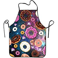 Galaxy Donut Premium Quality Aprons Adjustable Bib Apron for Home Overlock