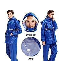 スプリット防水ジャケットブラック/ブルー/カラーブルーウルトラライトマテリアル反射デザイン (Color : Dark blue, Size : XL)