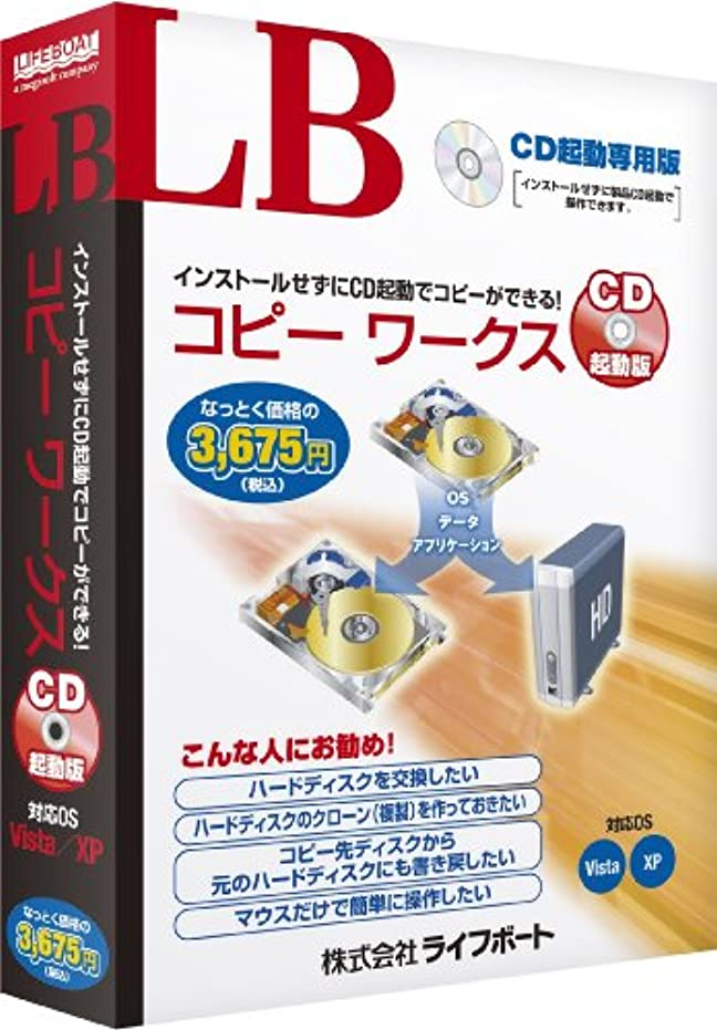 撤回する感性天皇LB コピー ワークス CD起動版