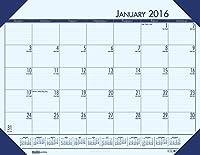 (Blue) - House of Doolittle 2016 Monthly Desk Pad Calendar, EcoTones, Blue Paper, 60cm x 43cm (HOD12440-16)
