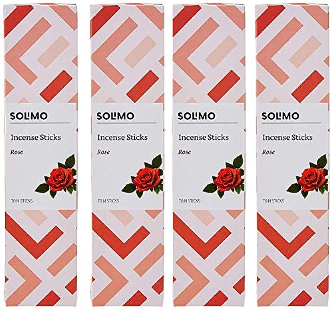 医薬品野球検出Amazon Brand - Solimo Incense Sticks, Rose - 70 sticks/pack (Pack of 4)