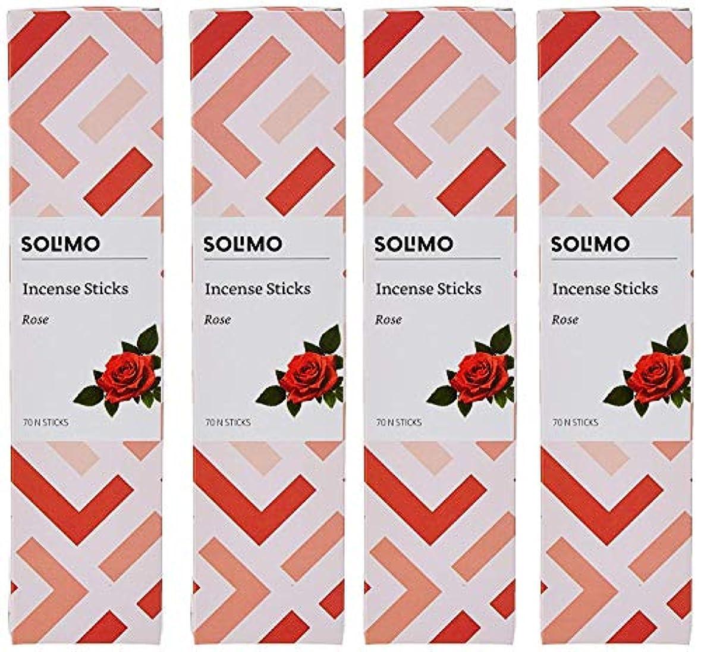 欠伸プラットフォームつまらないAmazon Brand - Solimo Incense Sticks, Rose - 70 sticks/pack (Pack of 4)