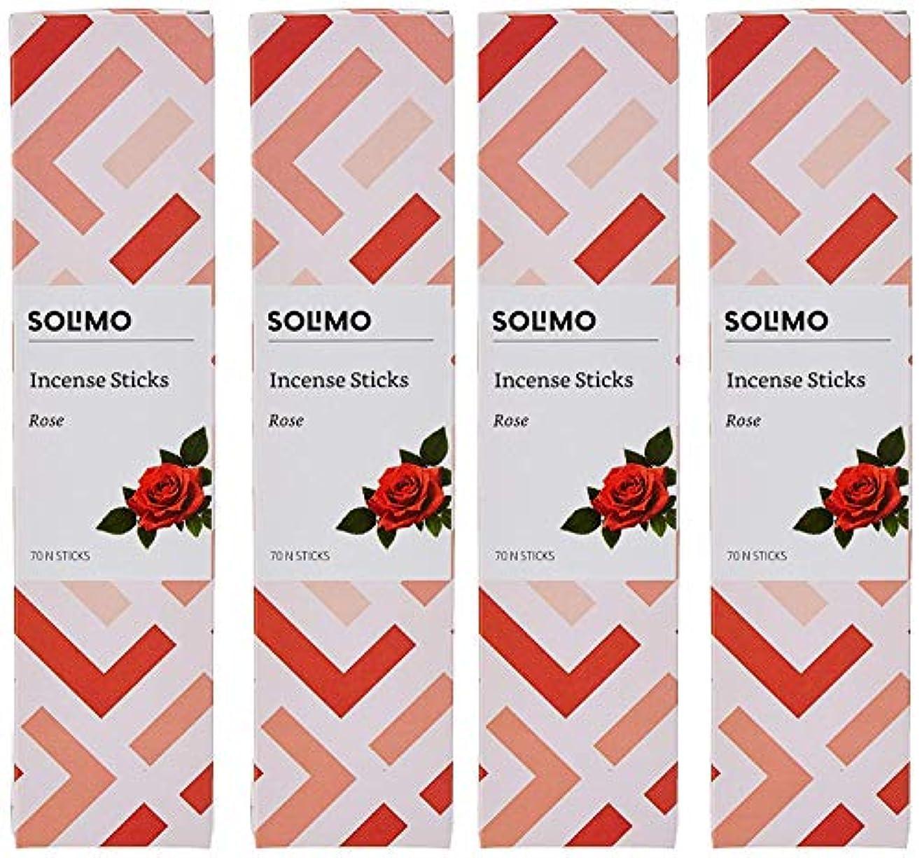考えた仕方奇跡的なAmazon Brand - Solimo Incense Sticks, Rose - 70 sticks/pack (Pack of 4)