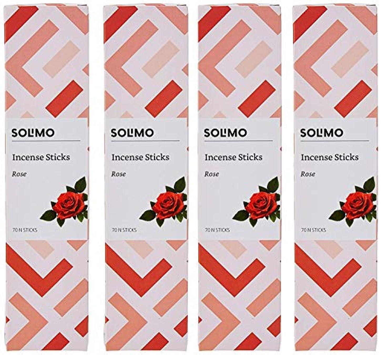 腐食するヘロインベースAmazon Brand - Solimo Incense Sticks, Rose - 70 sticks/pack (Pack of 4)