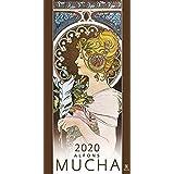 ALPHONSE MUCHA 2020 CALENDAR (アルフォンス ミュシャ 星 宝石 花 女性 四季 2020 年 カレンダー)