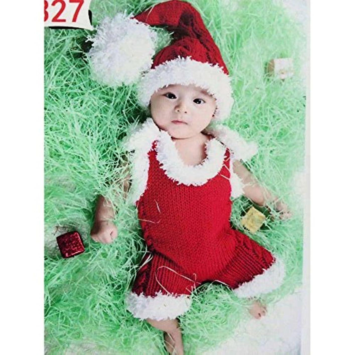 テンポ残忍なシャベル可愛いベビーサンタコスチューム 寝相アート マーメイド 衣装 クリスマス衣装 着ぐるみ手編み感 ベビー服 子供用 男の子 女の子 帽子付き (3~6ヶ月)