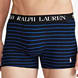 POLO RALPH LAUREN(ポロラルフローレン) ウエストロゴボーダーストレッチボクサーパンツ(Black/Blue) M(size32~34) [並行輸入品]