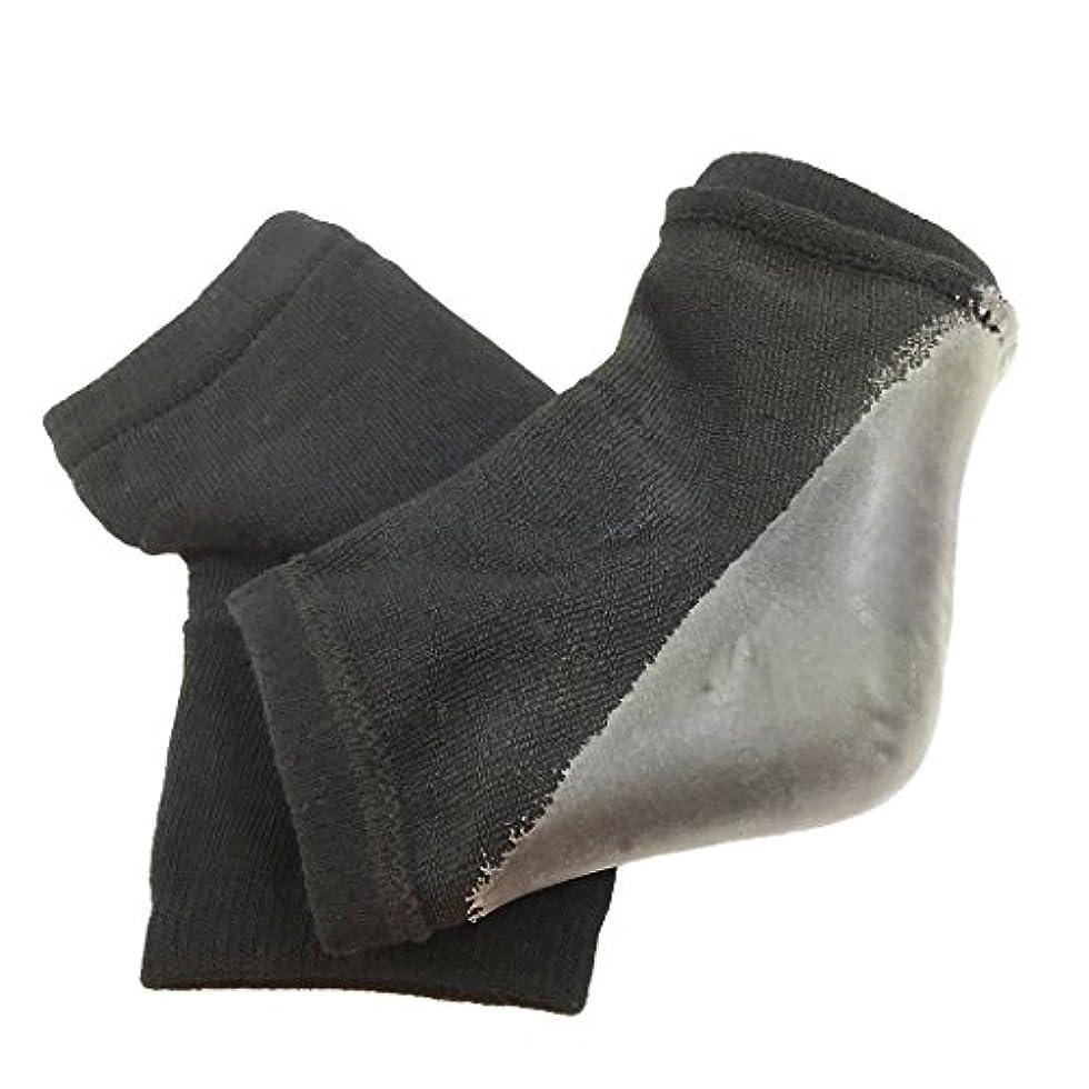 未接続質素な回路fla-coco かかとケアソックス 【同色2足入り】 靴下 フットケア 角質ケア ひび割れ ガサガサ 保湿 ソックス (ブラック【2足】)