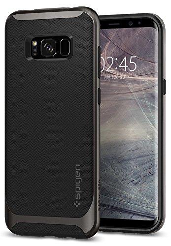 【Spigen】 Galaxy S8 ケース, [ 米軍MIL規格取得 二重構造 スリム フィット ] ネオ・ハイブリッド ギャラクシー S8 カバー (Galaxy S8, ガンメタル)