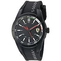 ブラック メンス アナログ カジュアル クォーツ Ferrari 時計 RedRev ???? 0830301
