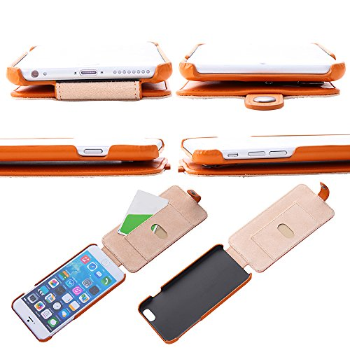 レイ・アウト iPhone6 Plus(5.5インチ)用 フラップタイプ・レザージャケット(本革) キャメル RT-P8LC2/K